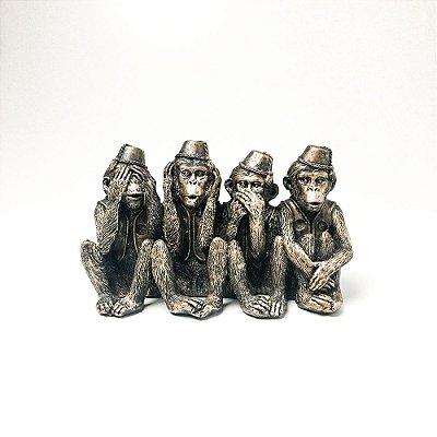Escultura em Resina Macacos