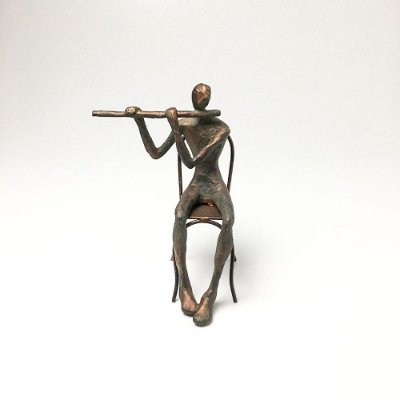 Escultura em Resina Flautista