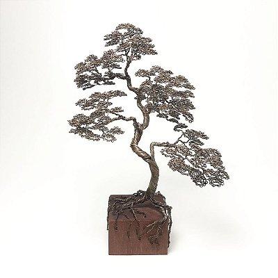 Árvore Bonsai em Aço com Base