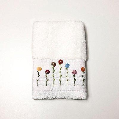 Toalha para Lavabo - Flores Coloridas