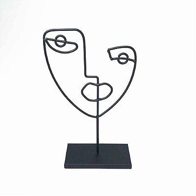 Escultura Face em Metal