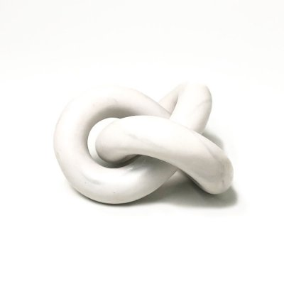 Escultura Nó Celta em Poliresina - Branca