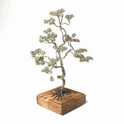 Escultura Árvore Dourada com Base