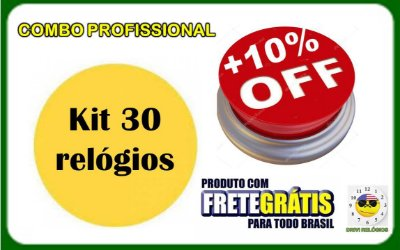 Combo Profissional - Kit 30 Relógios No Atacado P/ Revenda