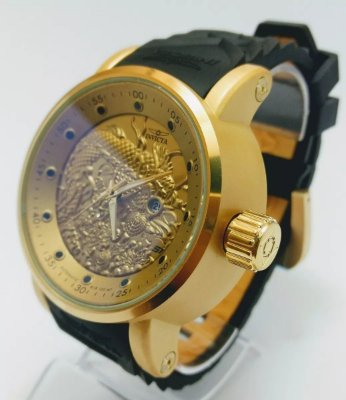 Relógio Invicta Yakuza S1 Dragon Preto Prova D'agua