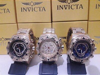Kit 03 Relógios Invicta Reserve Primeira Linha Atacado