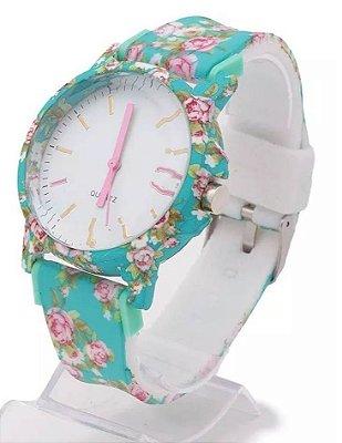 Kit 05 Relógios Floridos Femininos No Atacado Para Revenda