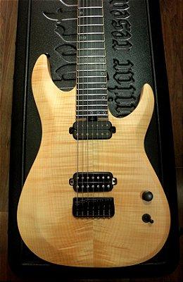 Guitarra Schecter Km7 MKII (keith Merrow) Natural Pearl + case Schecter