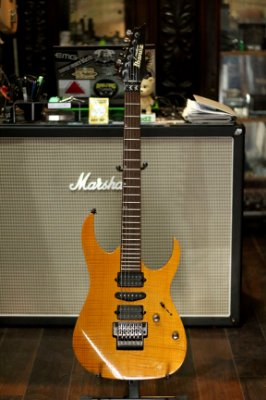 (Semi Novo) Guitarra Ibanez  J.Custom Rg1680 Amber (2000) Japan ------R$ 8999,00