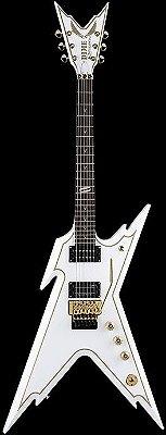 Guitarra Dean Razorback White With Gold