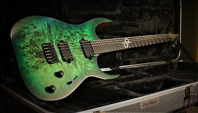 Guitarra Solar S1.6HLB Lime Burst Matte + Hardcase  -------- R$ 9.799,00