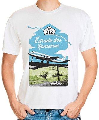 Camiseta Estrada dos Romeiros (branca) | AUTOentusiastas