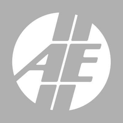 Adesivo AE redondo Branco vazado | AUTOentusiastas