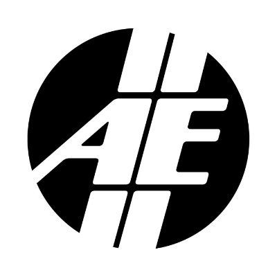 Adesivo AE redondo Preto e Branco | AUTOentusiastas