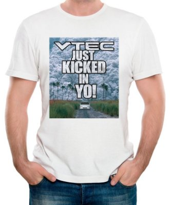 Camiseta VTEC just kicked in yo! (branca)