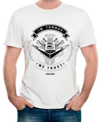 Camiseta In Torque we trust (Branca)