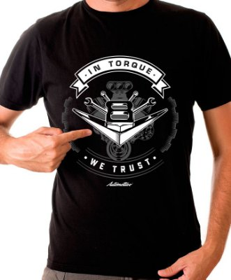 Camiseta In Torque we trust (preta)