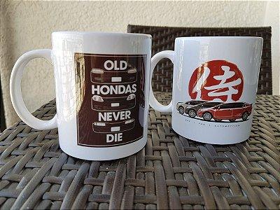 Caneca Old Hondas never die (branca)