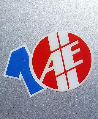 Adesivo 10 anos AE resinado (relevo) | AUTOentusiastas