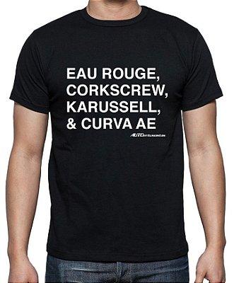 Camiseta Curvas Famosas (preta) | AUTOentusiastas