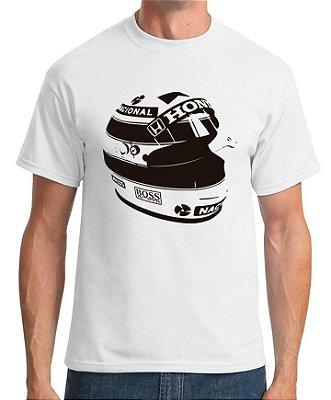 Camiseta Capacete Senna (branca)