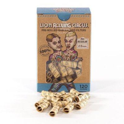 PITEIRA LION ROLLING CIRCUS PRE ROLLED UNBLEACHED X120