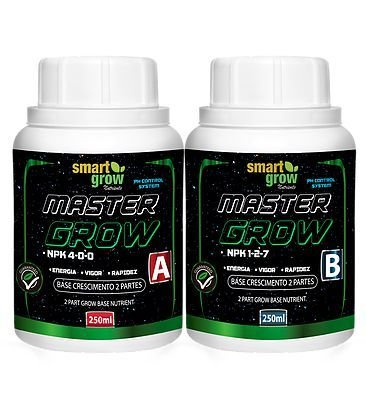 FERTILIZANTE SMART GROW MASTER GROW PARTE B 250ML