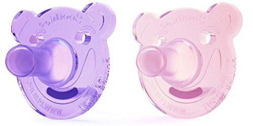 Chupeta Soothie Bear Philips Avent Kit 2 Peças Rosa/lilás 3M+