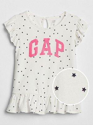Camiseta GAP Manga Curta Estampa Estrela