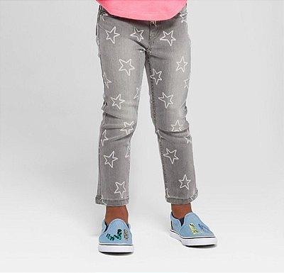 Calça Cat & Jack Jeans Estrela Feminino