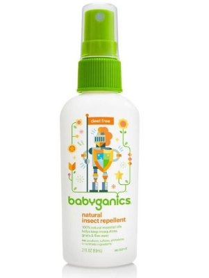 Repelente Infantil Orgânico Spray Babyganics - 59 ML