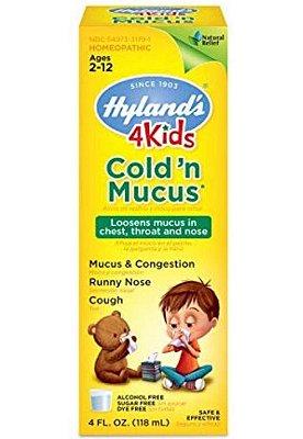Remédio Natural para Resfriado - 4 Kids Cold'n Mucus (118 mL)