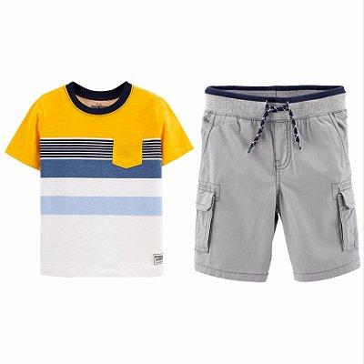Conjunto Carter's Camiseta e Bermuda Masculino