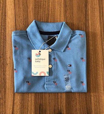 Camiseta Gola Polo Tommy Hilfiger Azul Logo