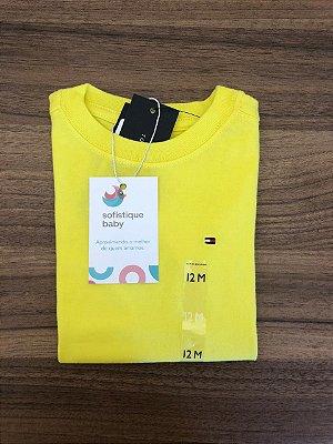 Camiseta Básica Tommy Hilfiger Amarela