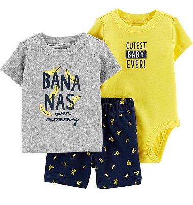 Trio 3 Peças Bananas Masculino