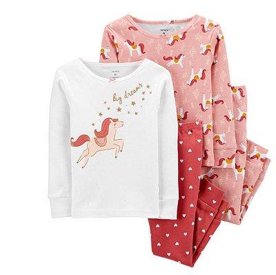 Pijama Kit 4 Peças Unicórnio