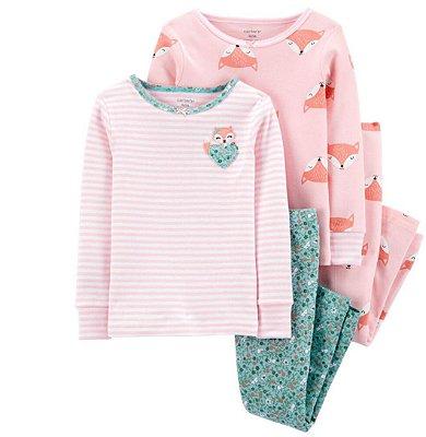 Pijama Kit 4 Peças Raposa
