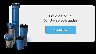 Filtro de água 5, 10 e 20 polegadas