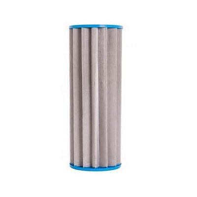 "Refil Plissado em Aço Inox 10"" x 4 ½"
