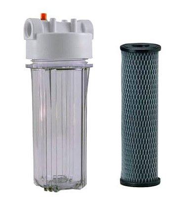 """Filtro Snic Transparente Com Refil Bella Fonte - 3M 9 3/4"""" x 2 ½ (10"""")"""