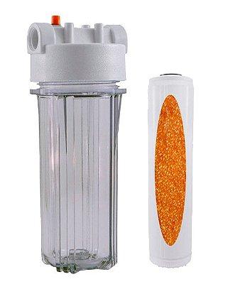 """Filtro Snic Transparente Com Refil De Resina 9 3/4"""" x 2 ½ (10"""")"""