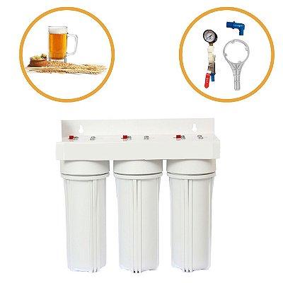 Sistema Triplo Para Água da Cerveja - Branco