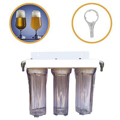 Sistema Triplo Para Cerveja - Transparente (Clarificação e polimento)