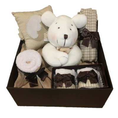 Kit Baby Chocolate bege