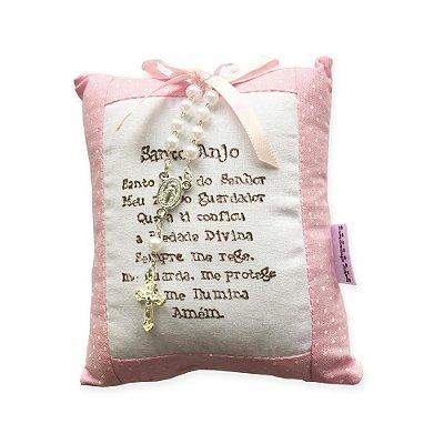 Almofada Santo Anjo Rosa