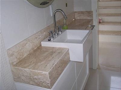 Bancada Banheiro Marmore Travertino