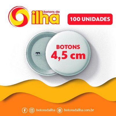 Botons Personalizados de 4,5 cm - 100 Peças