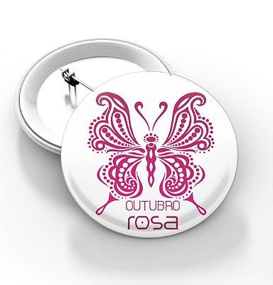 Botons Outubro Rosa - 3,8 cm - Modelo 15  - 100 Peças