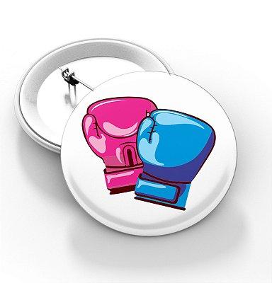 Boton outubro rosa e novembro azul - 3,8 cm - Modelo 07  - 100 Peças